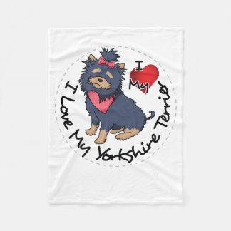 I-Love-My-Yorkshire-Terrier Fleece Blanket