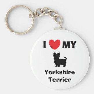 """I Love My Yorkshire Terrier"" Key Chain"