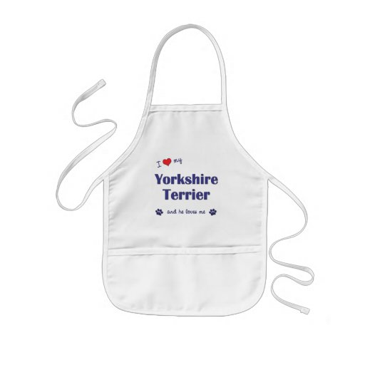 I Love My Yorkshire Terrier (Male Dog) Aprons