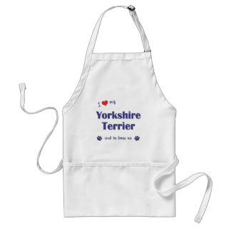 I Love My Yorkshire Terrier (Male Dog) Apron