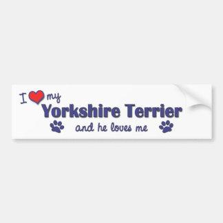 I Love My Yorkshire Terrier (Male Dog) Bumper Sticker