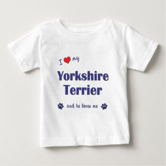 I Love My Yorkshire Terrier (Male Dog) Shirts