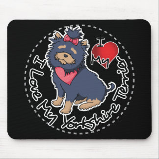 I-Love-My-Yorkshire-Terrier Mouse Pad