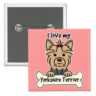 I Love My Yorkshire Terrier Pin
