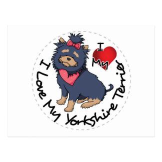 I-Love-My-Yorkshire-Terrier Postcard