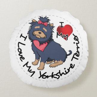 I-Love-My-Yorkshire-Terrier Round Cushion