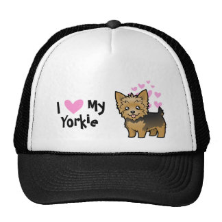 I Love My Yorkshire Terrier (short hair no bow) Cap