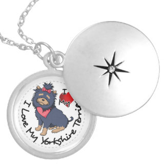 I-Love-My-Yorkshire-Terrier Silver Plated Necklace