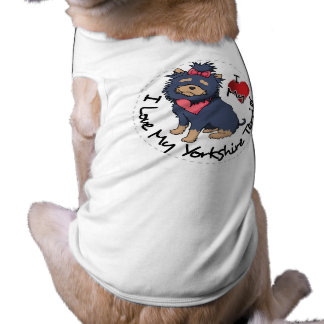 I-Love-My-Yorkshire-Terrier Sleeveless Dog Shirt