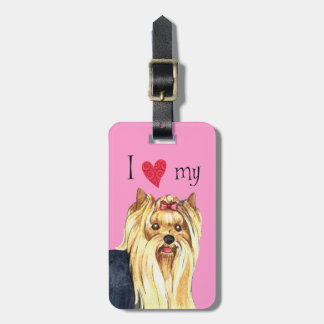 I Love my Yorkshire Terrier Tags For Bags