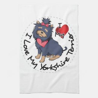 I-Love-My-Yorkshire-Terrier Tea Towel