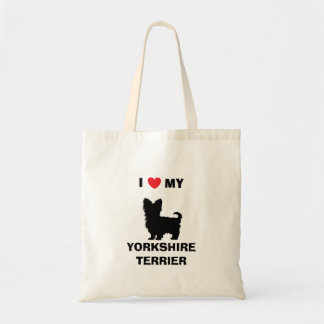 """I Love My Yorkshire Terrier"" Tote Bag"