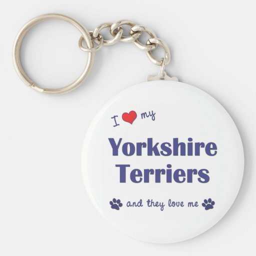 I Love My Yorkshire Terriers (Multiple Dogs) Key Chain