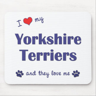 I Love My Yorkshire Terriers (Multiple Dogs) Mouse Pad