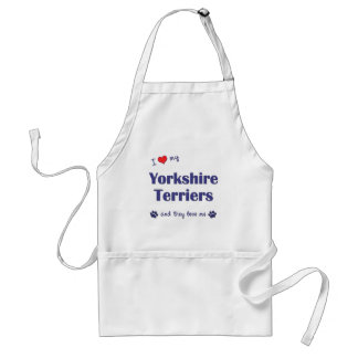 I Love My Yorkshire Terriers (Multiple Dogs) Standard Apron