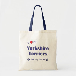 I Love My Yorkshire Terriers (Multiple Dogs) Canvas Bags