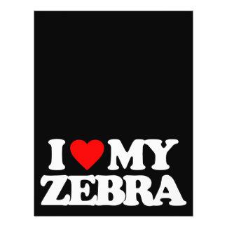 I LOVE MY ZEBRA CUSTOM FLYER
