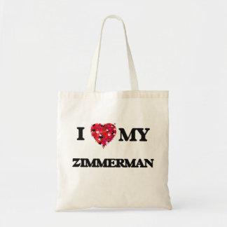 I Love MY Zimmerman Budget Tote Bag