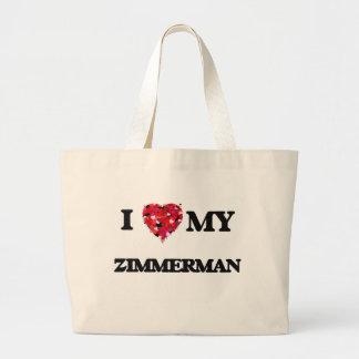 I Love MY Zimmerman Jumbo Tote Bag