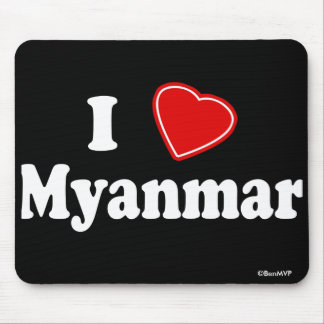 I Love Myanmar Mouse Pad