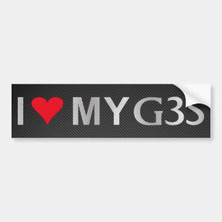 I Love MyG35 w Carbon Fiber Bumper Sticker