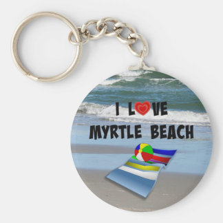 I Love Myrtle Beach Key Ring