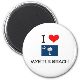 I Love Myrtle Beach South Carolina Magnet