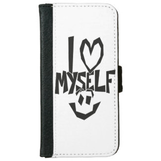 I love myself Smiley iPhone 6 Wallet Case
