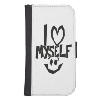 I love myself Smiley Samsung S4 Wallet Case
