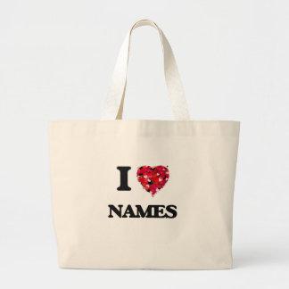 I Love Names Jumbo Tote Bag