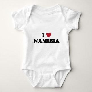 I Love Namibia Baby Bodysuit