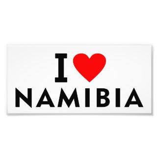 I love Namibia country like heart travel tourism Photo Print