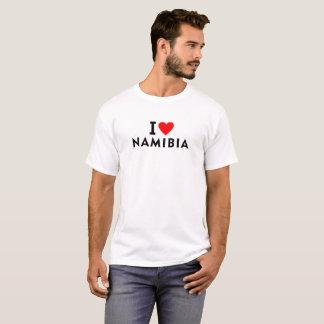 I love Namibia country like heart travel tourism T-Shirt