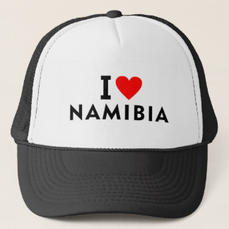 I love Namibia country like heart travel tourism Trucker Hat