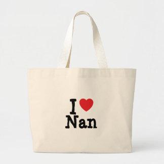 I love Nan heart T-Shirt Tote Bags