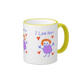 I Love Nan Ringer Mug