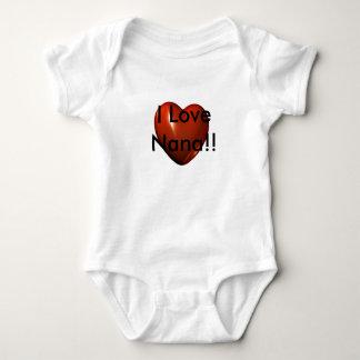 I Love Nana Heart Logo Infant Creeper