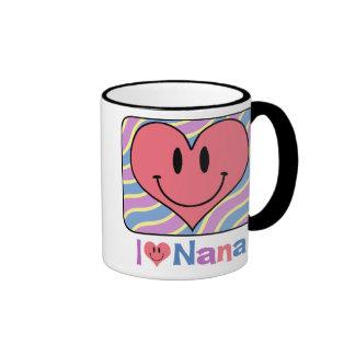 I Love Nana Ringer Mug