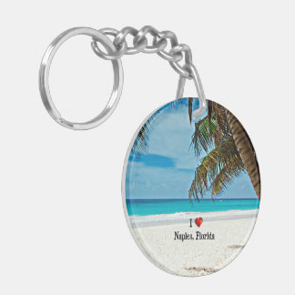 I Love Naples, Florida Key Ring
