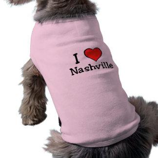 I Love Nashville Sleeveless Dog Shirt