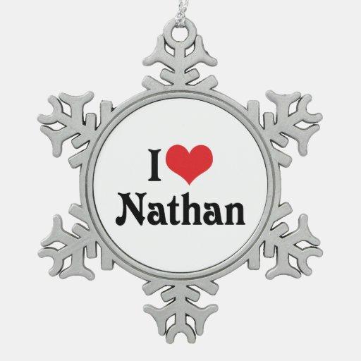 I Love Nathan Ornament