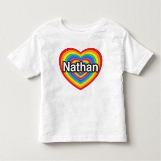 I love Nathan. I love you Nathan. Heart Shirt