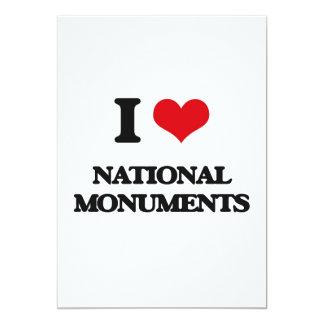 "I Love National Monuments 5"" X 7"" Invitation Card"