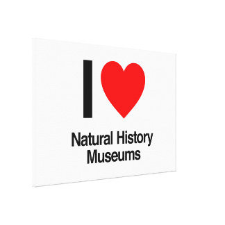 i love natural history museums gallery wrapped canvas
