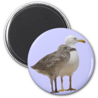I love nature - digital drawing 6 cm round magnet