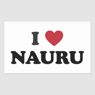 I Love Nauru Rectangular Sticker