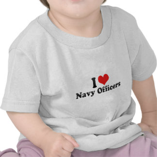 I Love Navy Officers T Shirt
