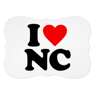 I LOVE NC PERSONALIZED ANNOUNCEMENT