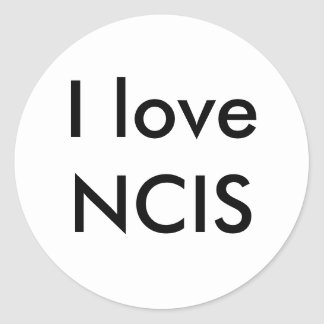 I love NCIS Round Sticker