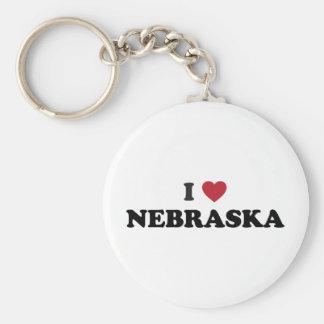 I Love Nebraska Key Ring